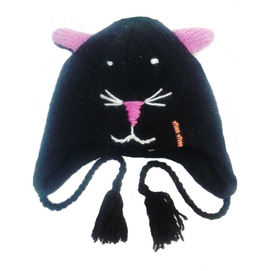Шапка Кот черный (Шерсть)