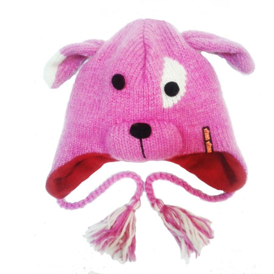 Шапка Заяц розовый (Шерсть)