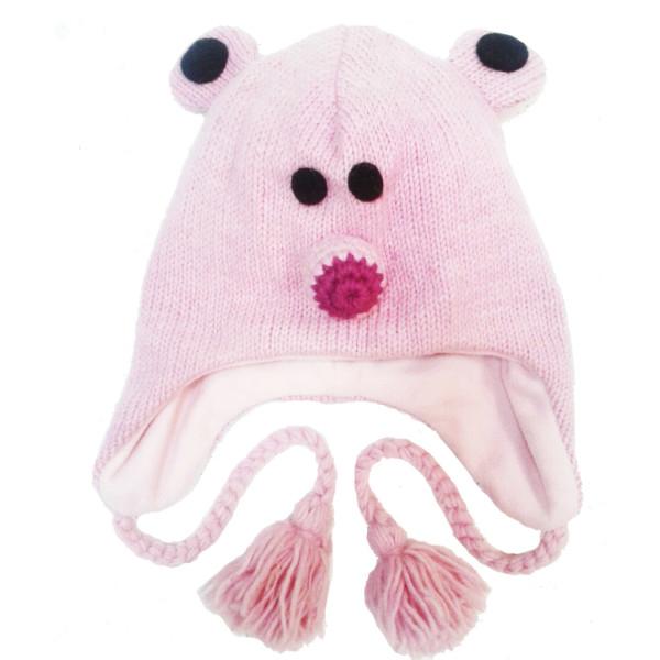 Шерстяная Шапка Мышь розовая
