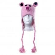"""Шерстяная шапка """"Мыш розовая"""""""