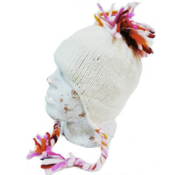 Шапка непалка одноцветная шерсть