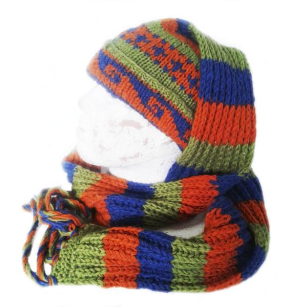 Шапка-шарф шерсть