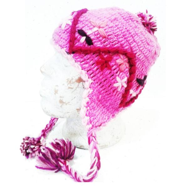 шапка непалка с вышивкой шерсть