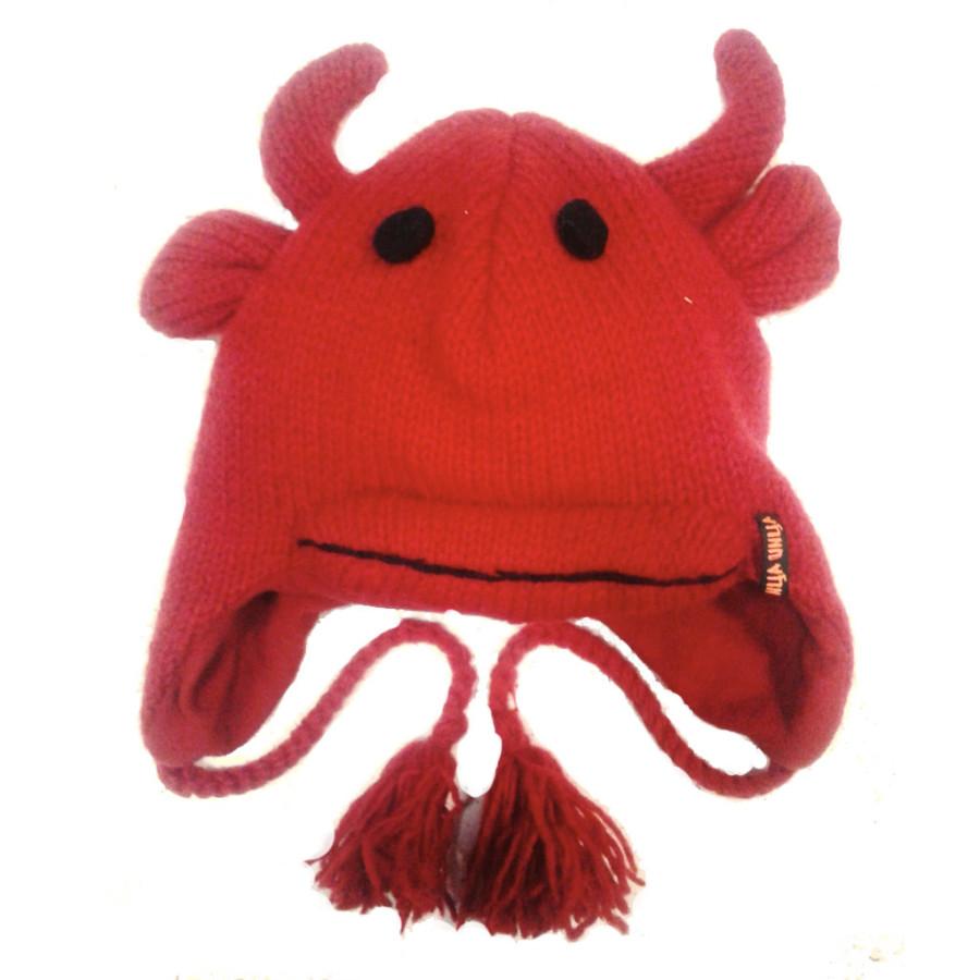 """Шерстяная шапка """"Красный бычек"""""""