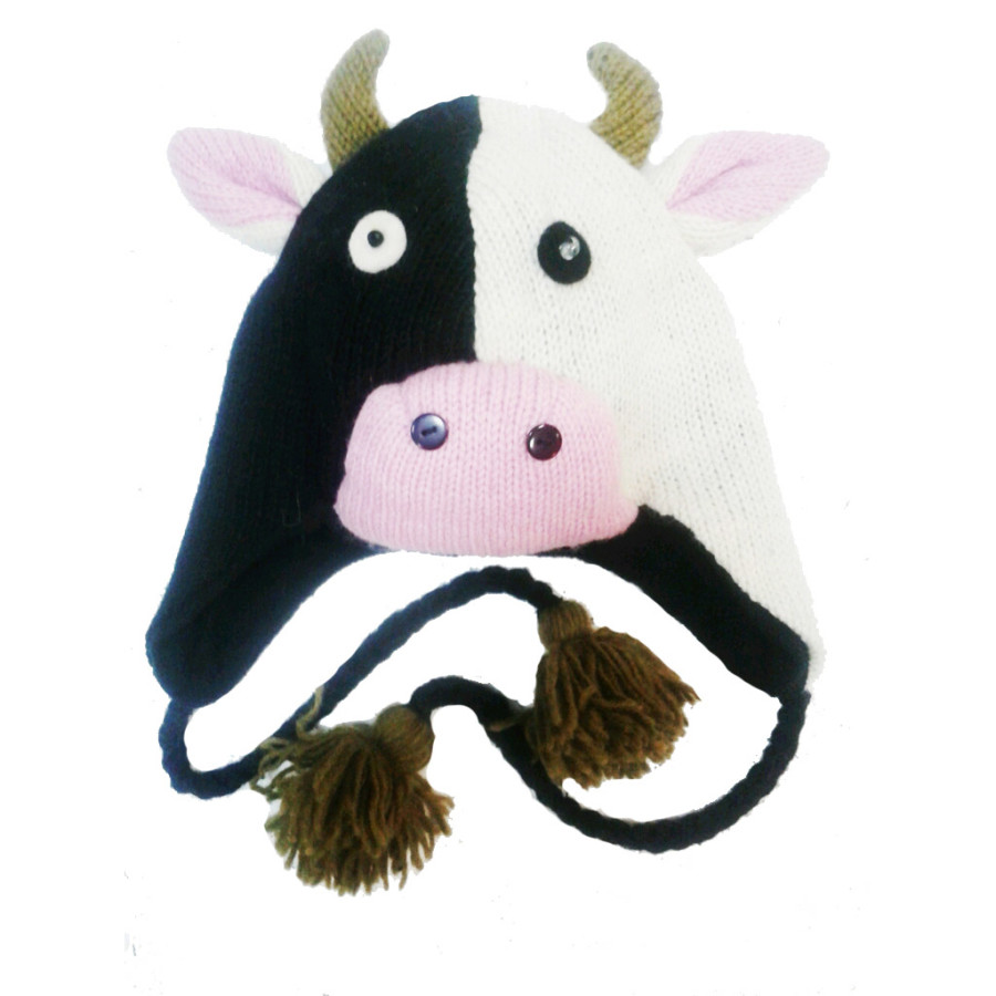 Шерстяная шапка Корова