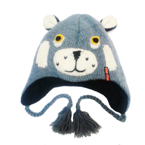 "Шерстяная шапка ""Котик серый"""