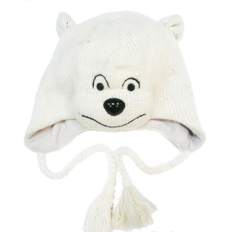"Шерстяная шапка ""Медведь белый"""