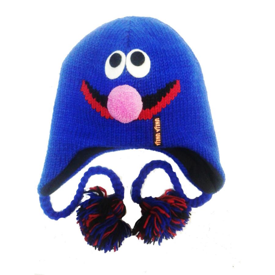 """Шерстяная шапка """"Сезам"""" синяя"""
