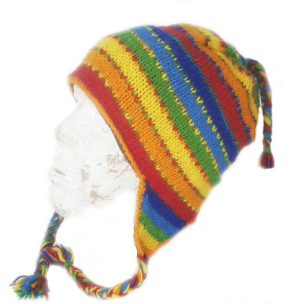 Шапка Непалка-радуга шерсть